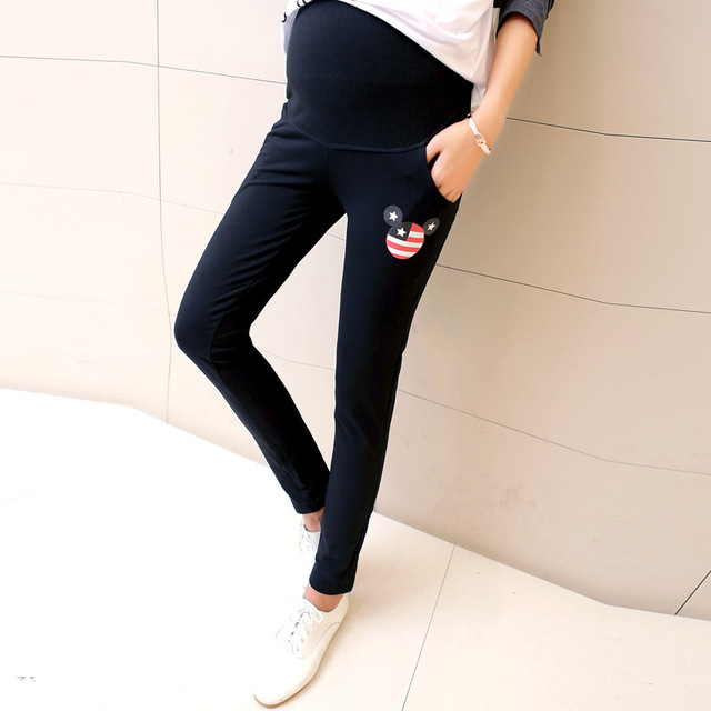 d4ec747bef0 Autumn Plus Size Grey Maternity Sports Yoga Pants Pregnant Women Gravida  Trousers Clothes Pregnancy Mamma Wear