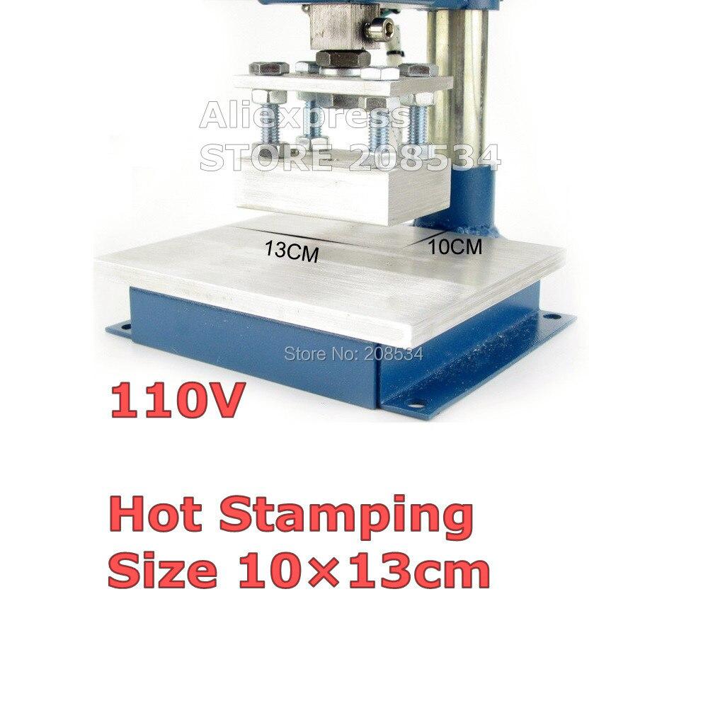 Купить с кэшбэком Manual Stamping Machine,leather printer,Creasing machine,hot foil stamping machine,marking press,embossing machine 10X13CM