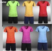 ZMSM 2017ผู้หญิงเสื้อฟุตบอลชุดที่มีคุณภาพที่สมบูรณ์แบบแขนสั้น