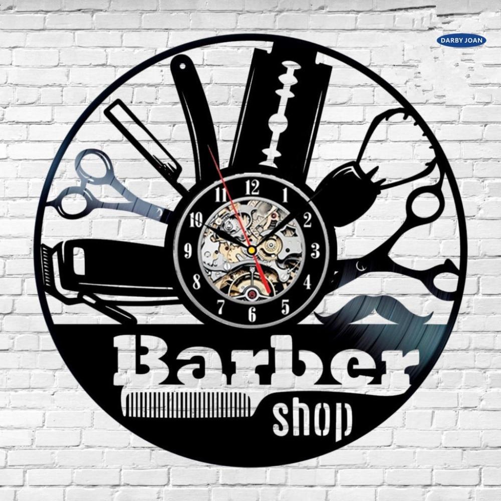 US $18.49 57% OFF|Duvar saati Kreative Wanduhr Geschenk Idee für Barber  Haar Schönheit Salo Coiffeur Salon Frisur Kunst decor Uhr Design-in  Wanduhren ...