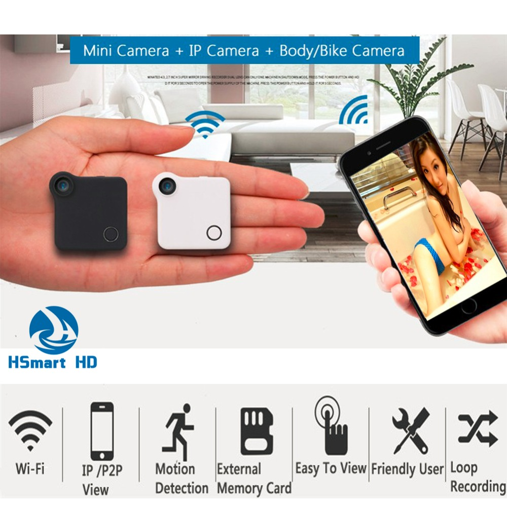 bilder für CCTV Wifi HD 720 P Mini Kamera Sd-karte Video Kamera Recorder Für Smartphone APP Live View Contro