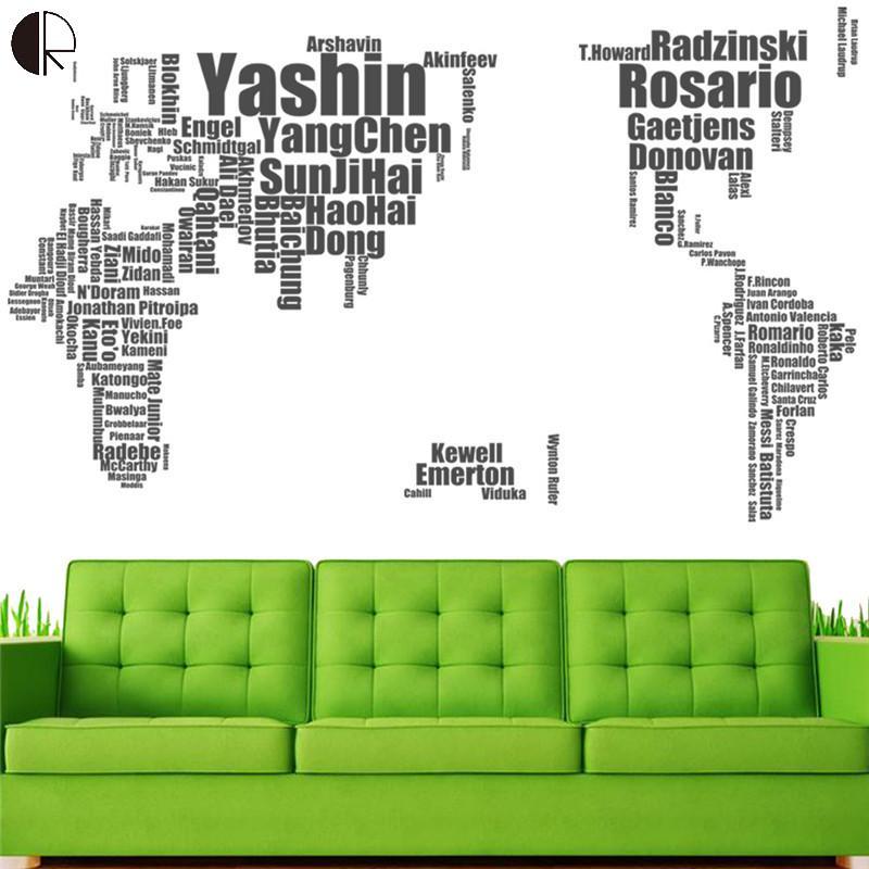 ③Estrella del fútbol mundial mapas creativo Decoración para el ...