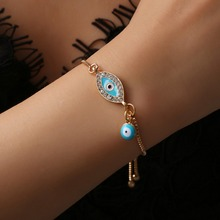 Турецкий синий кристалл сглаза браслеты для женщин ручной работы золотые цепочки Lucky ювелирные изделия браслет женские ювелирные изделия#287363