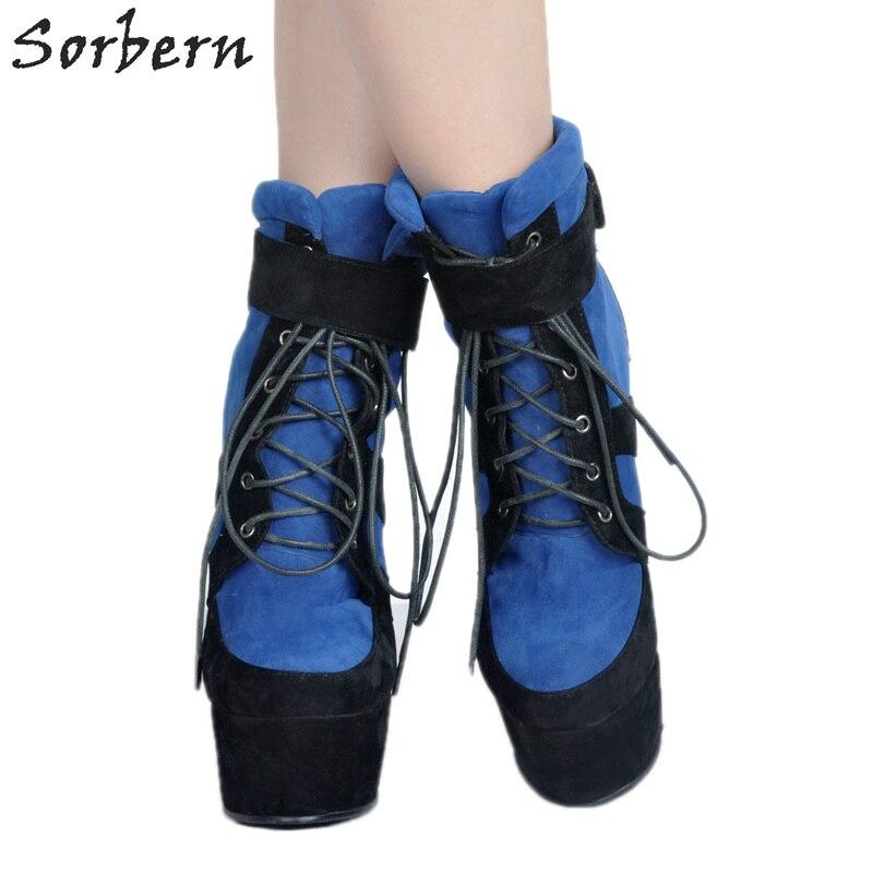 Mujer custom Dames Designer Botas Plus Compensées Partie De Chaussures La D'hiver Pour Colors Hiver Femmes 2017 Bleu Lacent Les Bottes Taille wZHWSB
