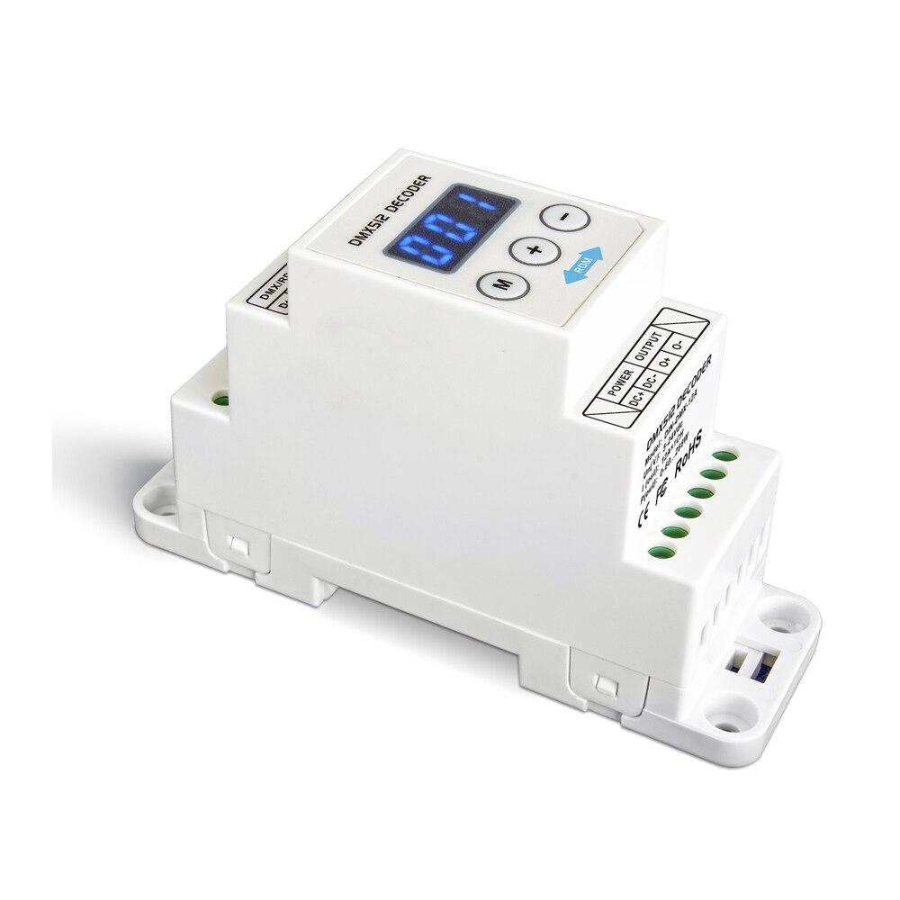 LTECH DIN-DMX-12A;DIN Rail CV 1CH RGB Constant Voltage DMX Decoder;DC5-24V input;12A*1CH output 1 Channel LED RGB Strip Decoder new ltech din rail dmx decoder din 808 8ch cv dmx decoder dc12v input 3a 8ch output 8 channel dmx512 led rgbw strip cv decoder