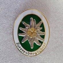 Высокое качество WW2 немецкая армейская медаль Элитная Edelweiss горный военный значок