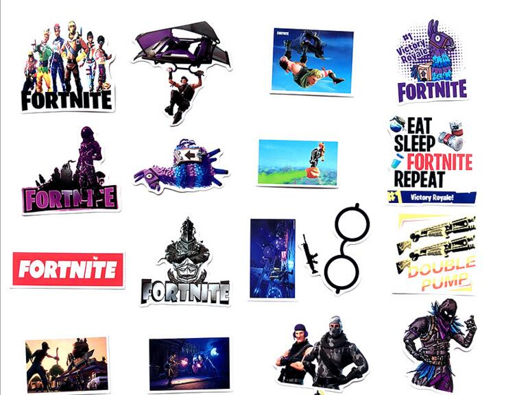 46pcs/lots For Fortress Night Stickers For PS4 Console Controller Game Stickers For IPad Phone Laptop Moto Car