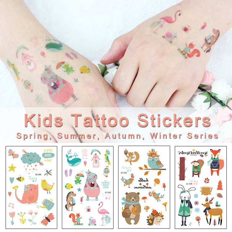 2019 New Kids Tattoo Sticker Seasons Fake Taty Spring Summer Autum Winter Children Tatouage Body Art Waterproof Temporary Tatoo
