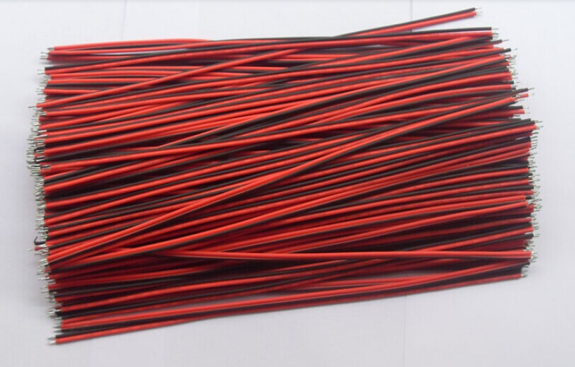 Free Shipping New 22 AWG <font><b>2</b></font> <font><b>Pin</b></font> Single Color <font><b>Led</b></font> <font><b>Strip</b></font> Red/Black Connecting Wire 20cm DIY Cable!200pcs/lot image