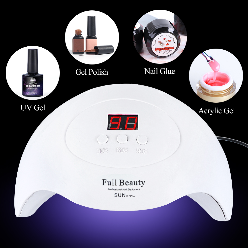 Pro UV LED Lamp Nail Dryer For All Gel Polish With Fast Dry Smart Timing Nail Art Tool 5