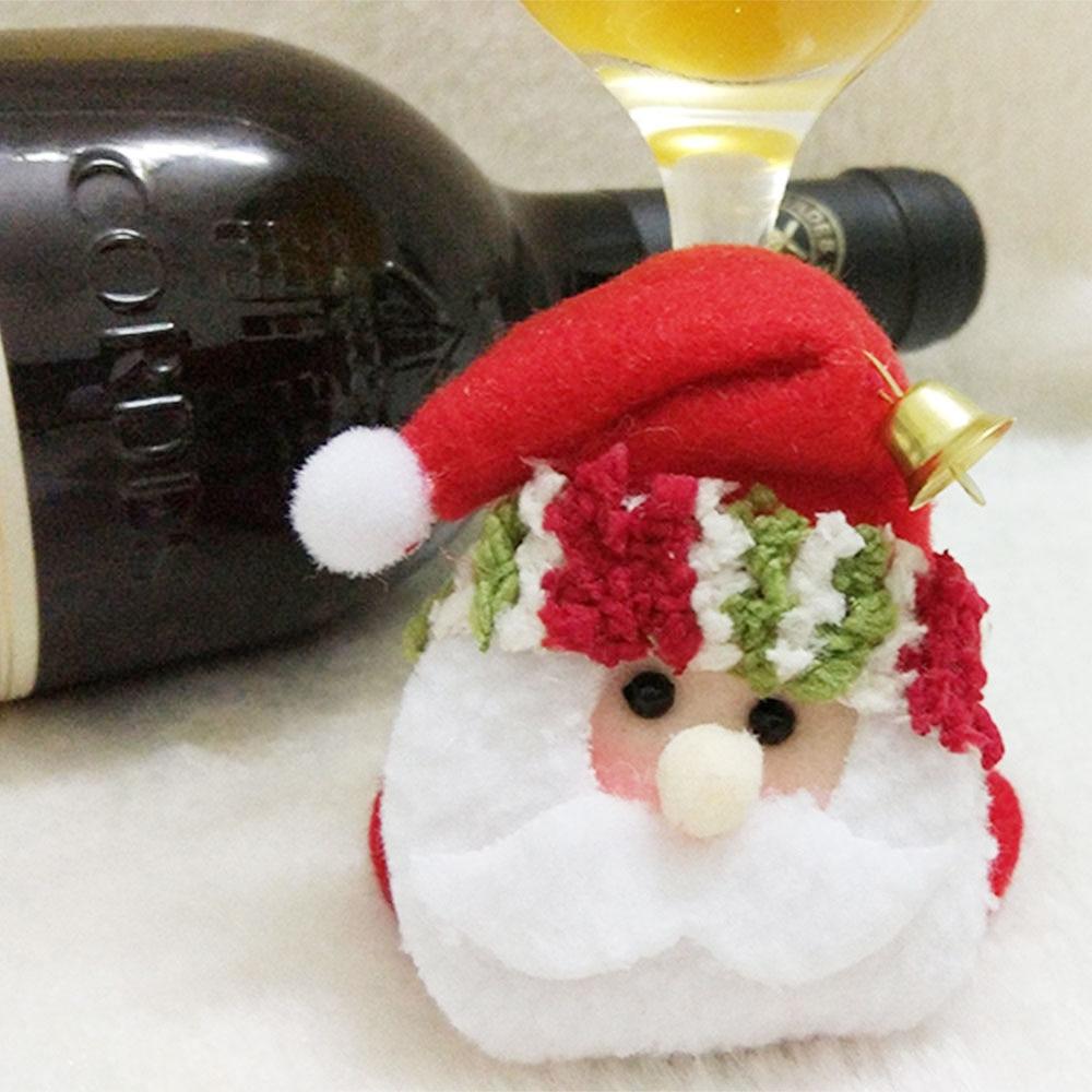 1 STKS Kerstfeest Ronde Onderzetters Kerstman Cup Mat Kerst Wijnfles - Feestversiering en feestartikelen - Foto 2
