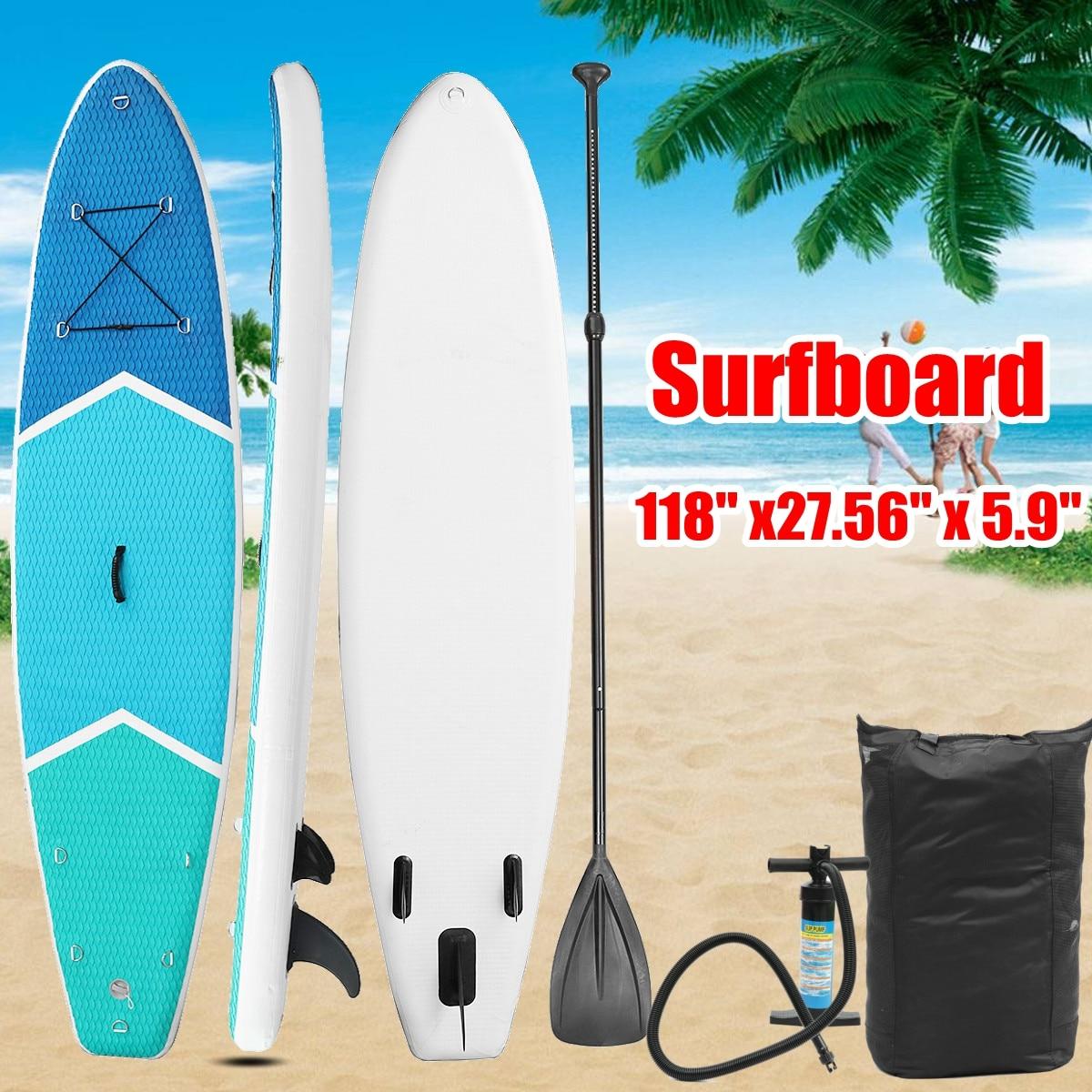 300 70 15cm inflatable surfboard Stand Up SUP Board Brett Surf aufblasbar paddle boat mit Repair