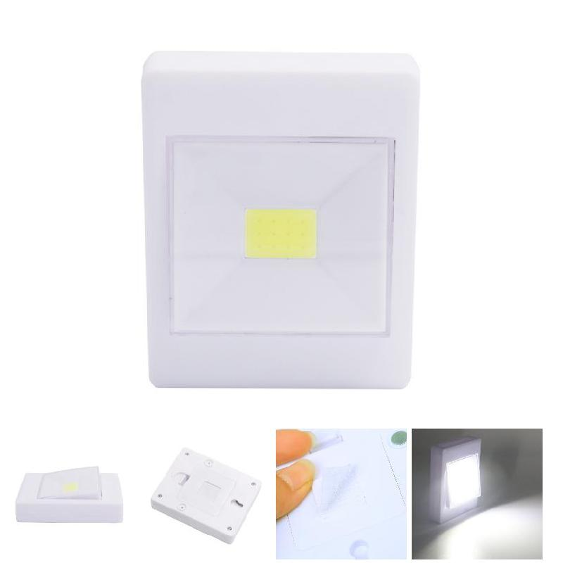 3W COB LED Wall Switch Wireless Closet Cordless Dimmable Night Light Battery Operated HVR88