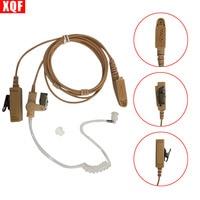 10PCS Beige Flesh Color Covert Acoustic Tube Earpiece Headset Mic For Motorola GP328Plus GP344 GP388 GP688