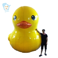 4m High Giant Inflatable Promotion Yellow Duck Water Floats Ground Decoration