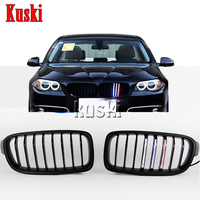 2Pcs car styling Matte Black Car Front Grilles Grill with LED Strip Lights Sport Strips Stickers for BMW F35/F30 2012 2015 F10