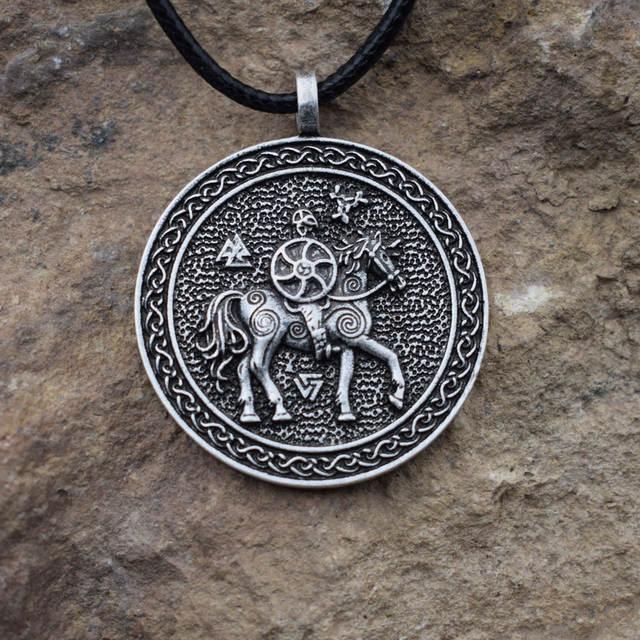 1pcs dropshipping Norse Viking Pagan Odin necklace Rune Tat Valknut Rune  JEWELRY SanLan