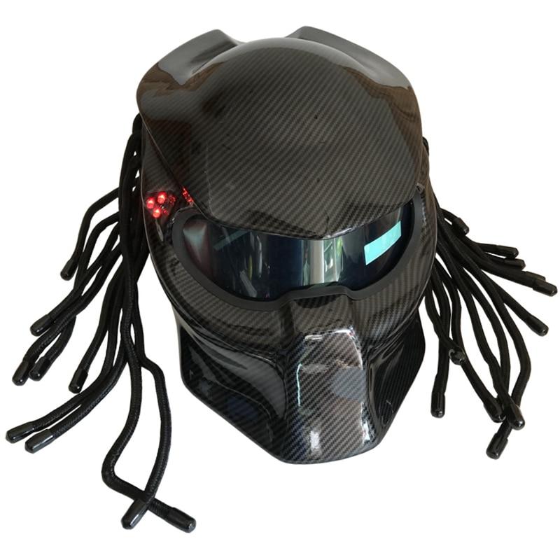2018 Masei New 4 color Bright Black camouflage Predators helmet mask Carbon fiber motorcycle Skull helmet Full face moto helmet
