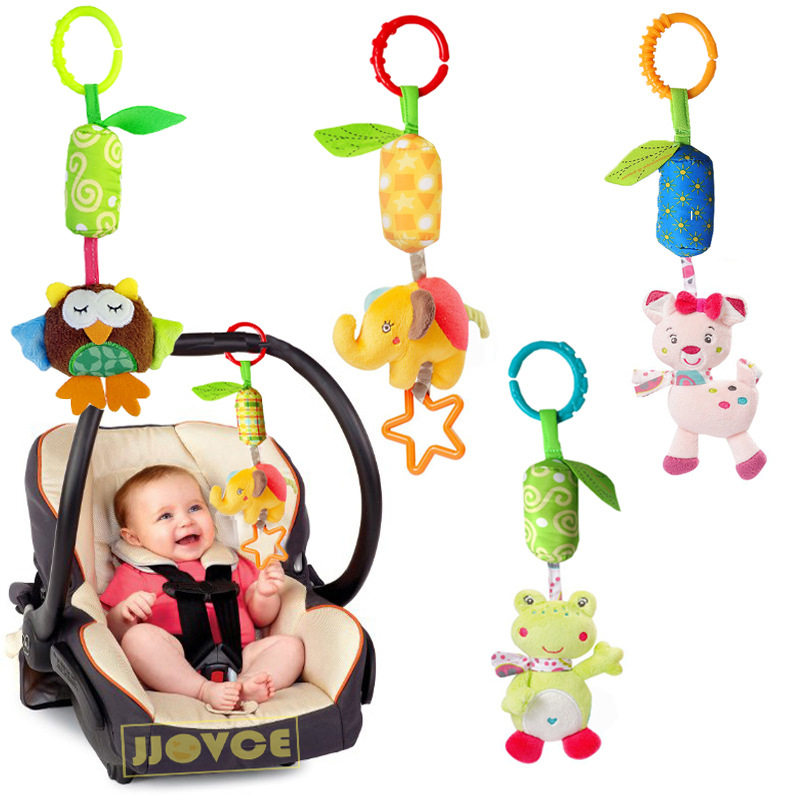 JJOVCE Playpen Baby Hanging Toys Stroller Rattles Plush Dolls Infant Carrier Accessories Wind Chime for Newborn Sensory Develop art