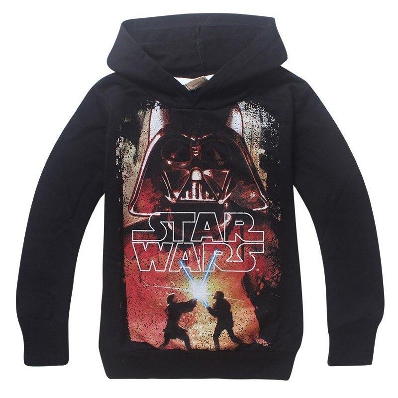 New 2018 Boy Hoodies Star War Childrens Sweatshirts For Boys Cartoon STAR WAR Kids Hoodies Boys Girls Tops Costume