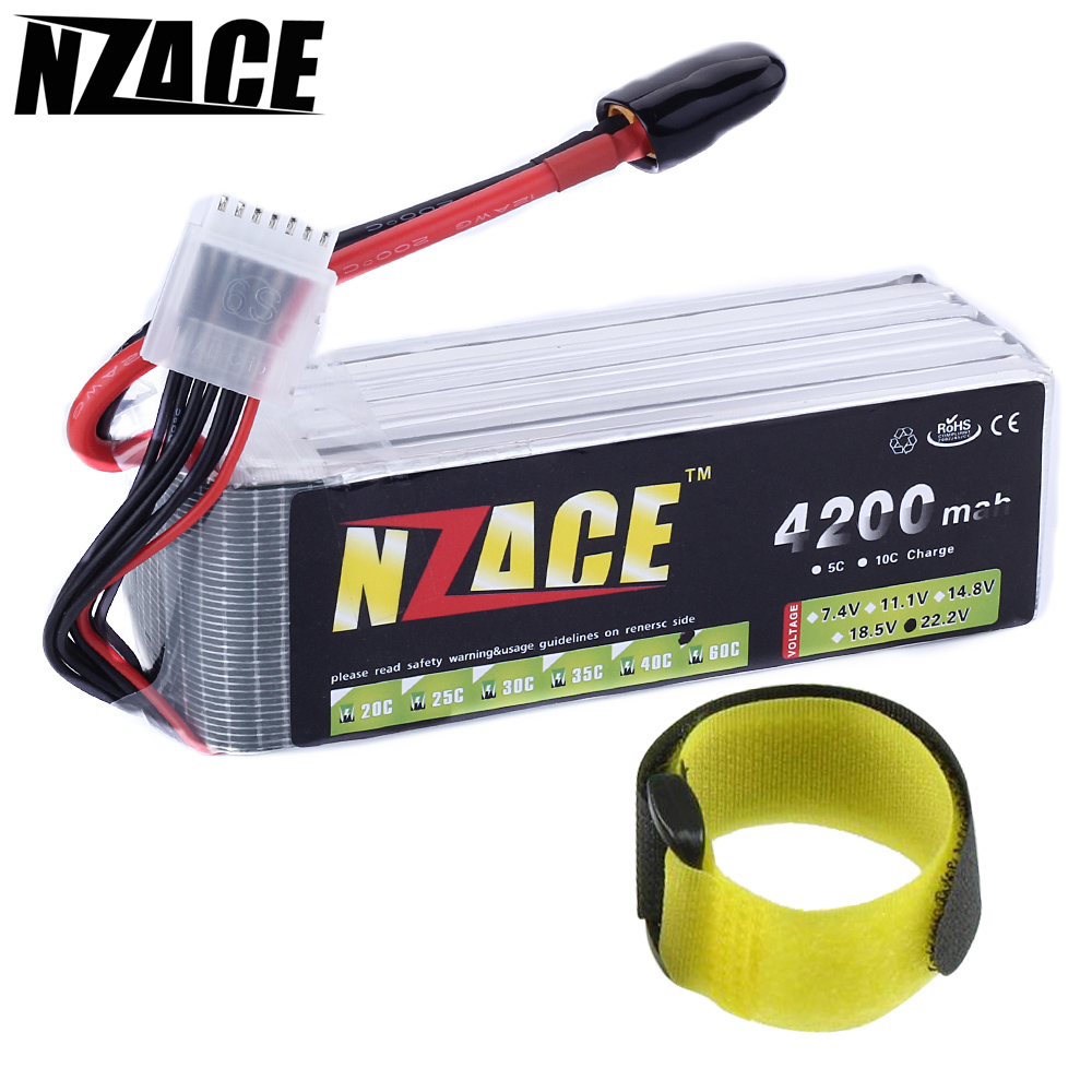 NZACE 6S lipo battery 22.2v 4200mAh 60C RC helicopter RC car RC boat quadcopter remote control toys Li-Polymer battey
