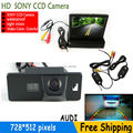 PARKING Wireless Color CCD Car rear view camera for AUDI A1/A4 (B8)/A5 S5 Q5 TT/ VW PASSAT R36 5D with 4.3 Inch LCD TFT Monitor