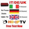 Italia REINO UNIDO Alemania 1000 + HD-IPTV Caja IPTV Canales Europa 1 año Mag250 IPTV Streaming de Caja Interior Mejor Que Mag254 IUDTV QHDTV