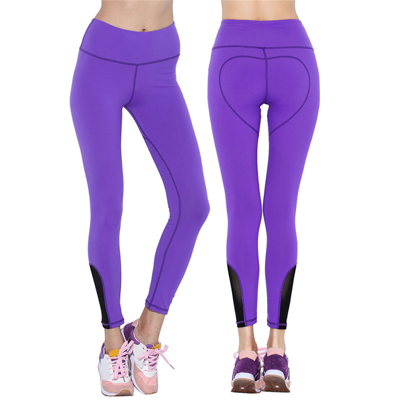 Elastic Yoga Pants Compression High Waist Sportswear Quick-drying Tights Fitness Running Trousers Solid Women Sports Leggings