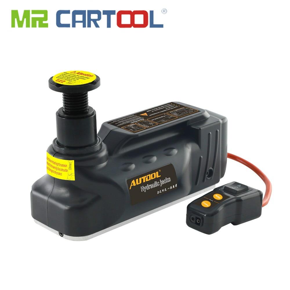 MR CARTOOL voiture 12 V 3Ton vérins hydrauliques horizontaux portables petit Mini-plancher cric véhicule voiture Garage