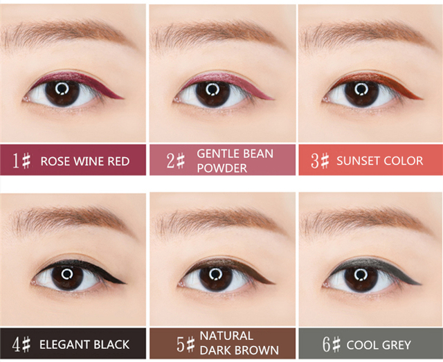 6 Color Liquid Eyeliner Pencil NOVO Cosmetics Eye Makeup Long Lasting Waterproof Black Eye Liner Pen Women Make Up 5