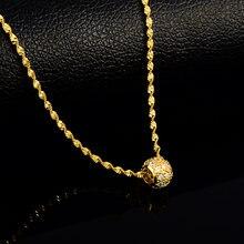 Круглые круги ярко желтое ожерелье для женщин и девушек 24k