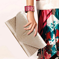 Luxury Brand Leather Women's Clutches Fashion Women Evening Bags Glod Female Envelope Bags Party Wristlet Bag Phone Pocket