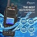 Radioddity GD-55 10 W IP67 Impermeable UHF 400-470 MHz Ham Radio de Dos Vías Walkie Talkie DMR Digital GPS, Compatible con MOTOTRBO
