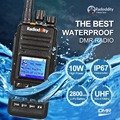 Radioddity GD-55 10W IP67 Waterproof  UHF 400-470MHz DMR Digital Two Way Ham Radio Walkie Talkie GPS, Compatible with MOTOTRBO
