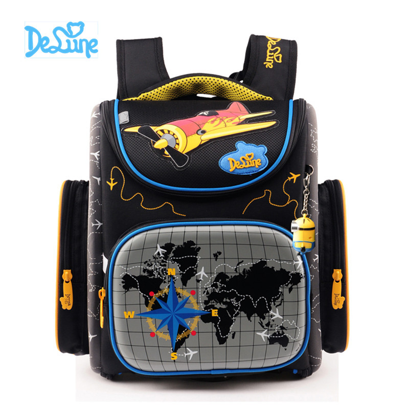 Delune High Quality School Bags for Boys Girls Children Backpacks Primary Student Backpacks Schoolbag Fashion cute Kids Book Bag 3 6 grade cute baymax cartoon primary student bag children school bags backpack for girls boys kids bookbags child book bags