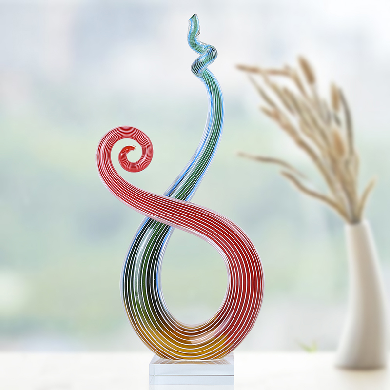 H D Handmade Glass Unique Creative Style Blown Glass Crafts Room Adornment Home Decoration Creative Gift