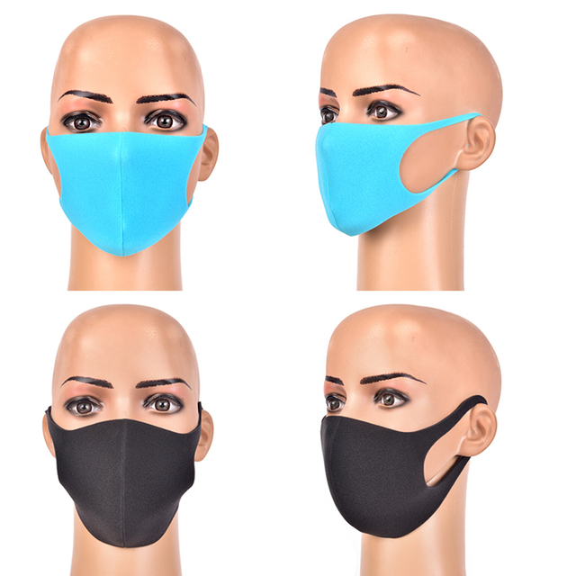3pcs Mouth Mask Black Cotton Blend Anti Dust And Nose Breathable Face Mouth Mask Fashion Reusable Masks For Man Woman 5
