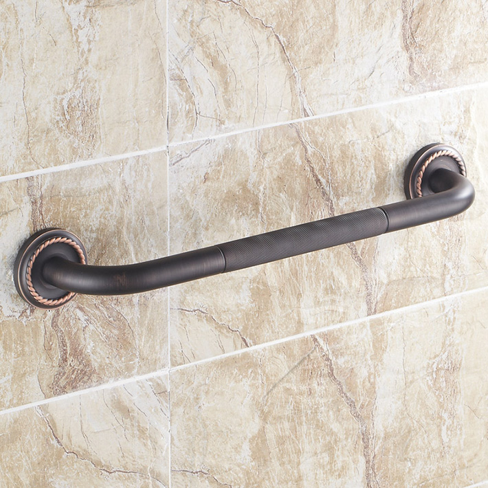 Vintage ORB bathroom bathtub safety grab bars wall mounted brass oil rubbed bronze