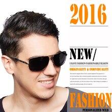 Gafas de Sol de Los Hombres Diseñador de la Marca casuales Negro Aleación Del Metal Frame Conducción Gafas UV400High Calidad Gafas de Sol Gafas Masculino