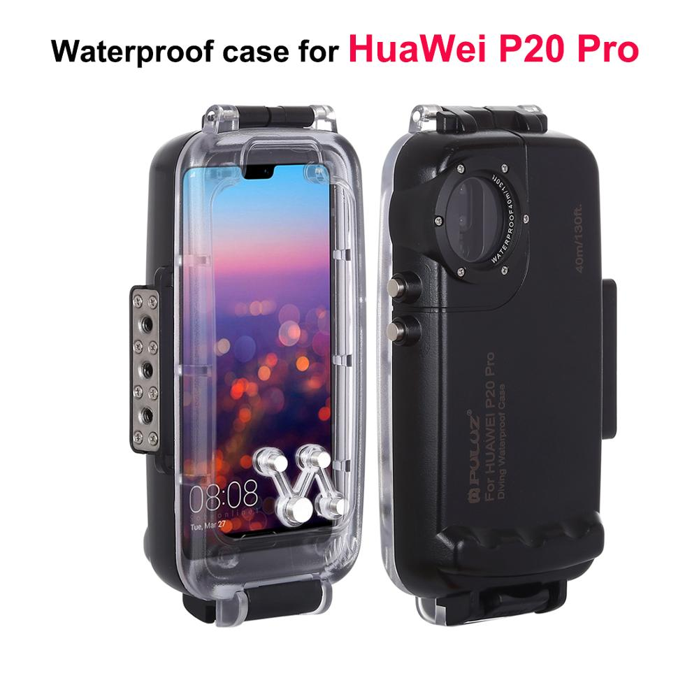 40 m étui pour huawei P20 Pro étanche plongée Photo vidéo prise sous-marine housse de protection sports nautiques activités téléphone coque