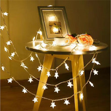 1.5M 10 LEDs AA Power IP44 Outdoor Star LED String Lights Christmas Holiday Wedding party decoration Luces