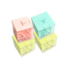 1 random delivery hot money puzzle maze toy 3D three-dimensional labyrinth piggy bank transparent ball six-sided box