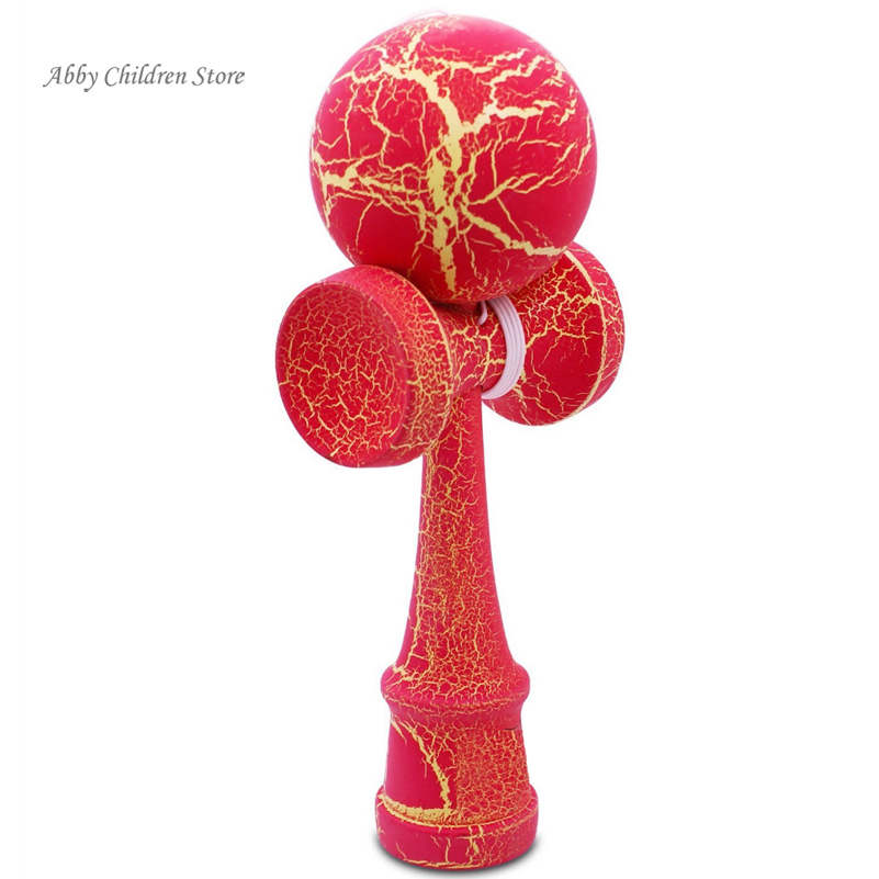 Abbyfrank 25cm Full Crack Jumbo Kendama Professional Wooden Toy Big Size Kendama Juggling Ball Game For Children Adult Toy Gift