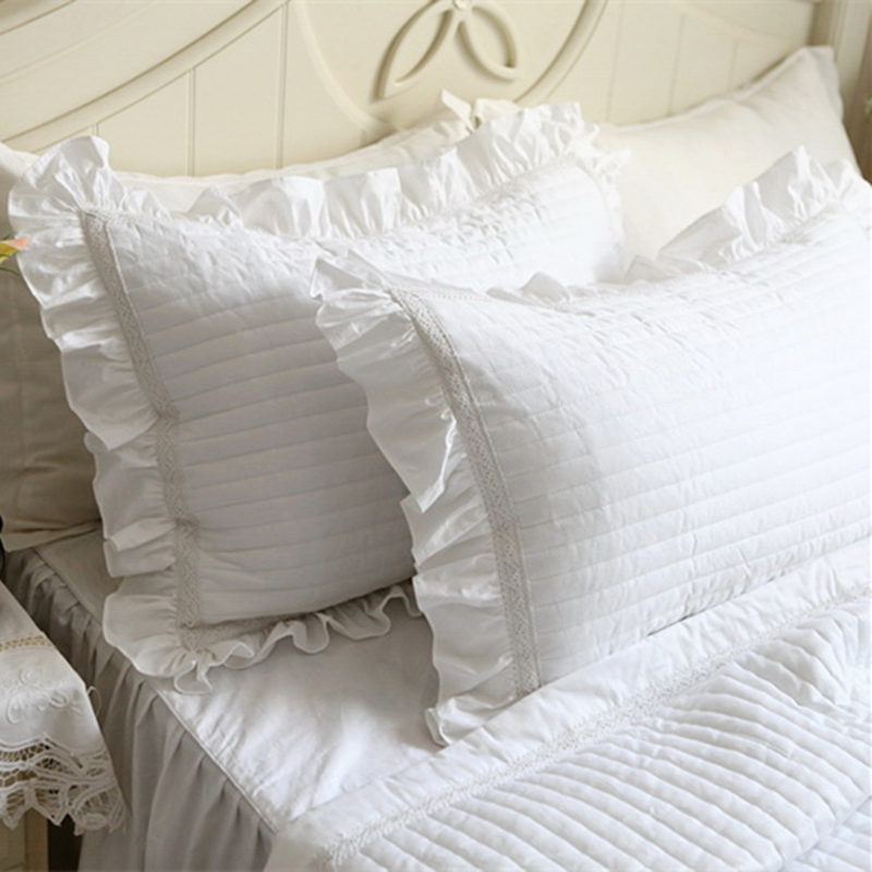 2pcs Embroidered Pillow Case Quilt European Style Luxury