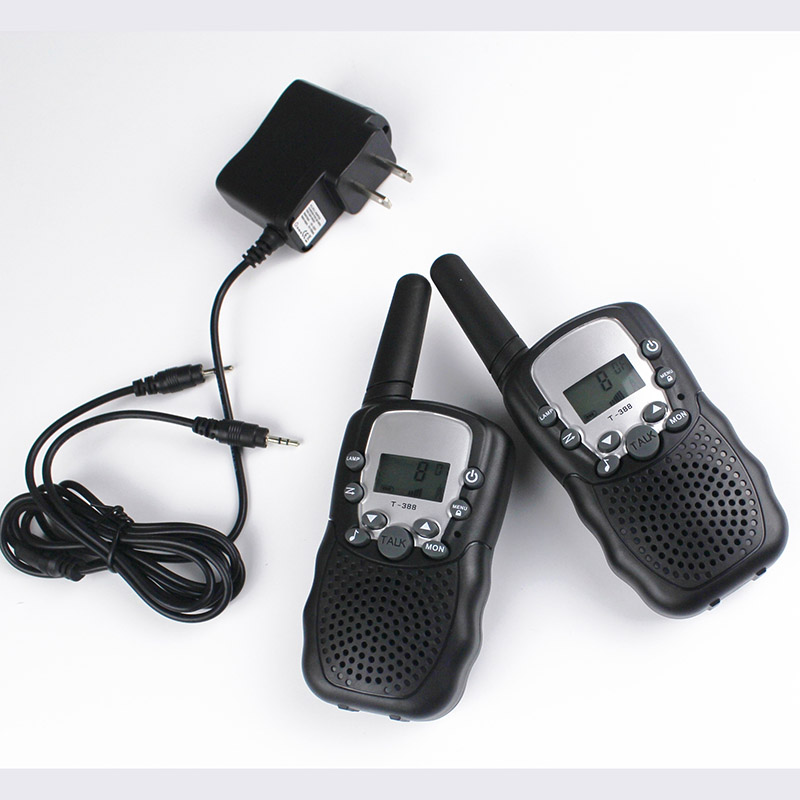 FRS GMRS 22CH Radio Walkie Talkie Pair T388 Walky Talky 99 Code VOX Hand-free With Walkie-talkie Headsets Charger Batteries