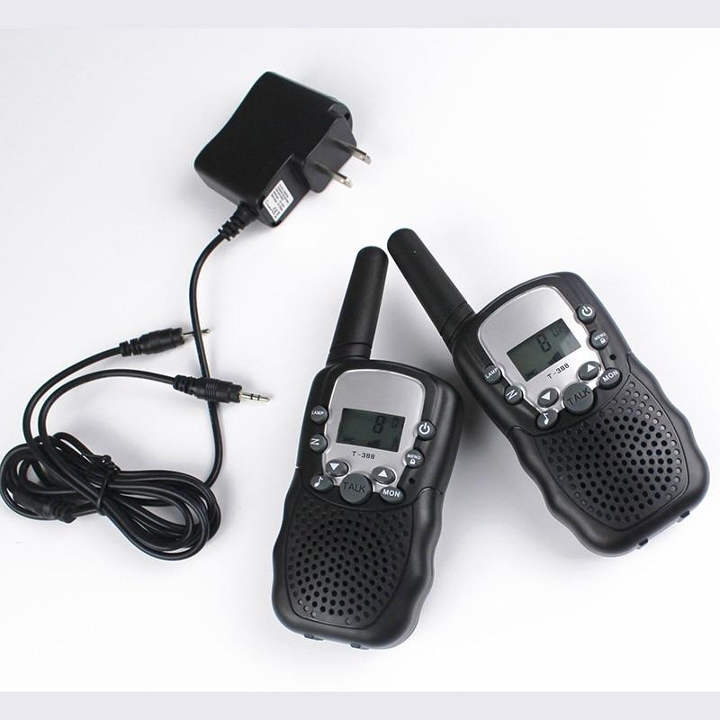 FRS GMRS 22CH radio walkie talkie par T388 walky talky 99 kode VOX håndfri med walkie-talkie headset oplader batterier