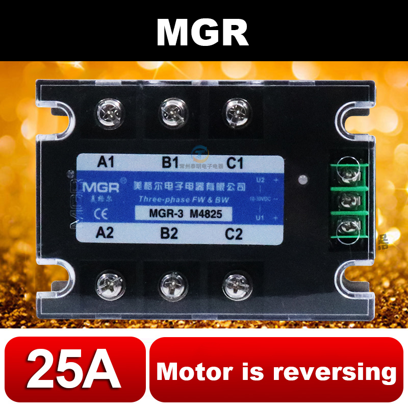 MGR Three-phase solid state relay 25A MGR-3 M4825 Motor is reversing tsr 25da new and original fotek 3 phase solid state relay 3 phase solid state module 25a
