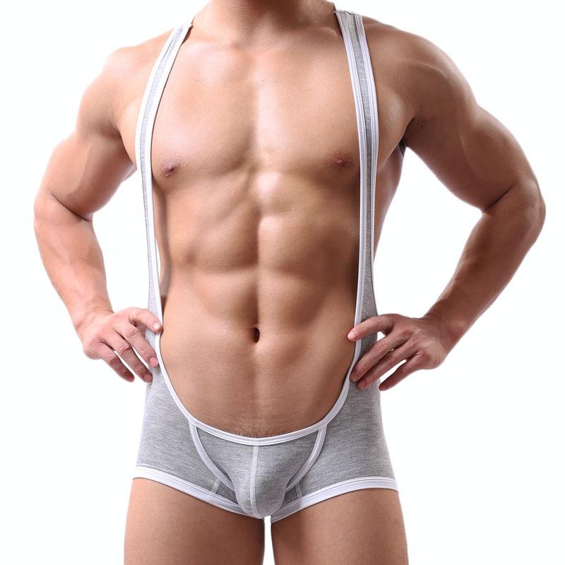 Sexy Mens Undershirt Overalls Modal Sexy Tank Tops Breathable Men Bodysuit Undershirt Jumpsuit Shorts Tight Leotard Undershirt in Undershirts from Underwear Sleepwears