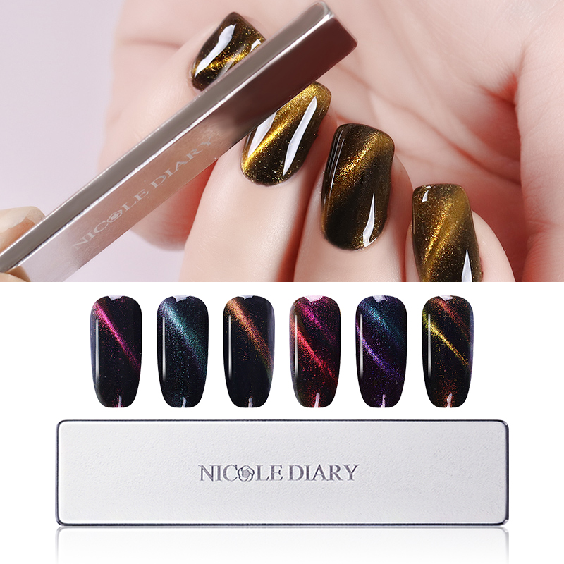 NICOLE DIARY Cat Eye Magnetic Plate Thick Strong Magnet for UV Gel Polish Manicure Nail Art Tool