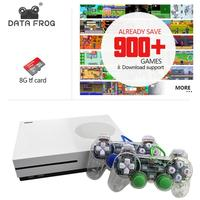 Data Frog новая игровая консоль 4 Гб ТВ-приставки с 600 играми прозрачный геймпад Семейный плеер для GBA/NEOGEO/NES/SNES
